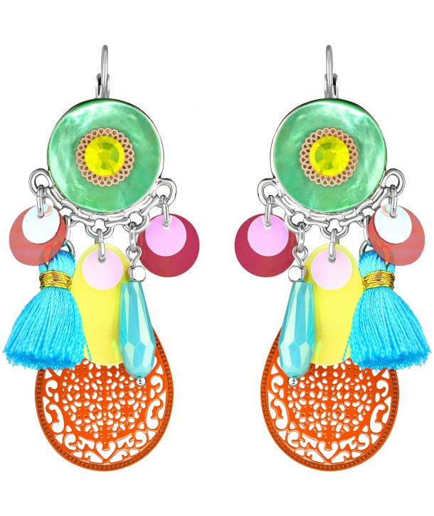 BOUCLES D'OREILLES - MADALENA COLOR SILVER