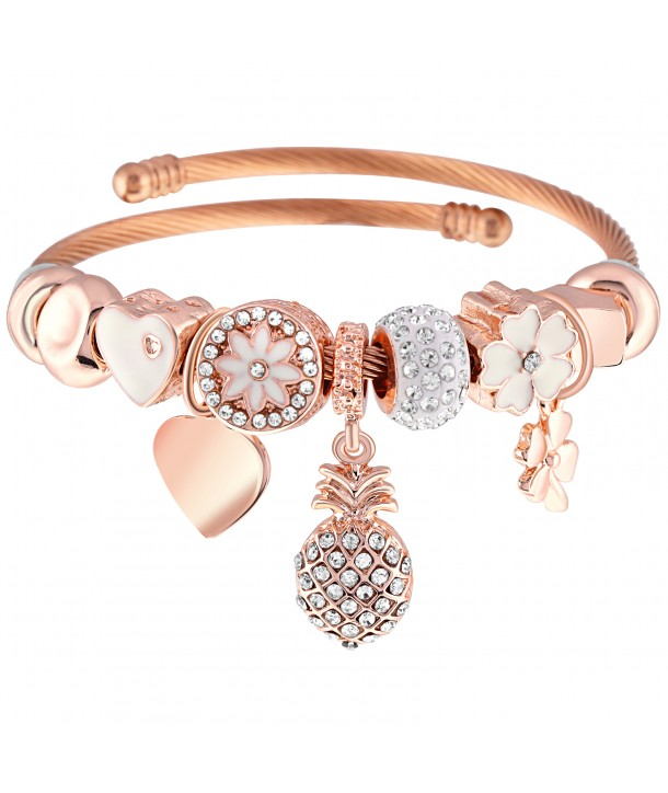 BRACELET - ROMANTIC PINEAPPLE PINK GOLD