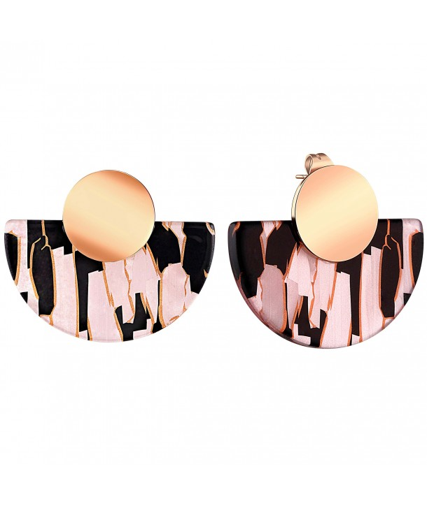 BOUCLES D'OREILLES - BALTIMORE STEEL PINK GOLD SMALL