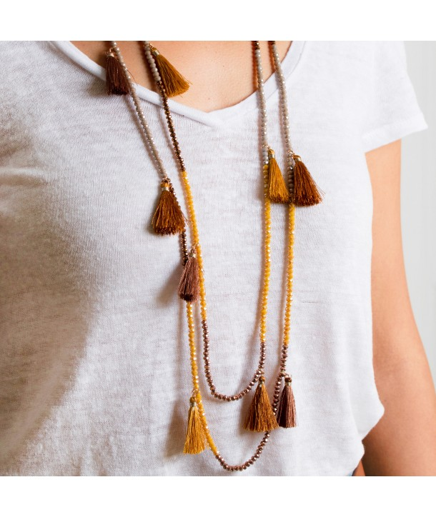 COLLIER - MARIANO CRYSTAL CAMEL
