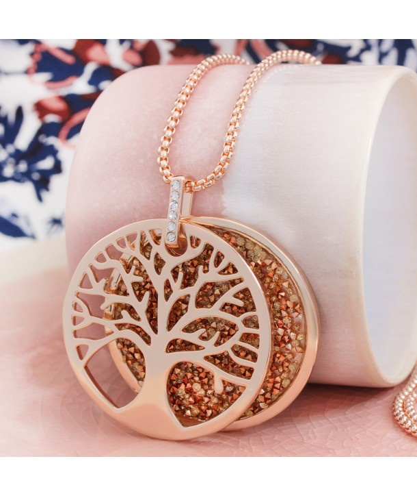 COLLIER - EVACRYSTAL PINK GOLD