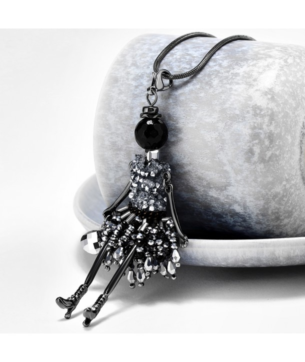 COLLIER - FAIRY TALE BLACK CRYSTALS