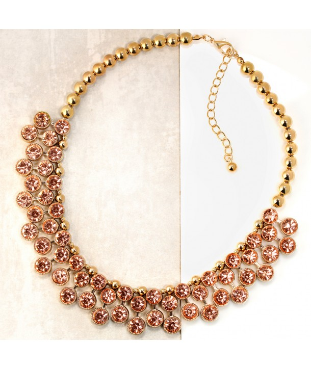 COLLIER - GLORIOUS CRYSTAL GOLD