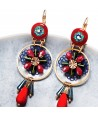 BOUCLES D'OREILLES - MARIANO CORAL GOLD