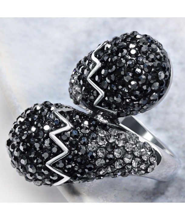 BAGUE - YOUR WORLD & ME HEMATITE SILVER