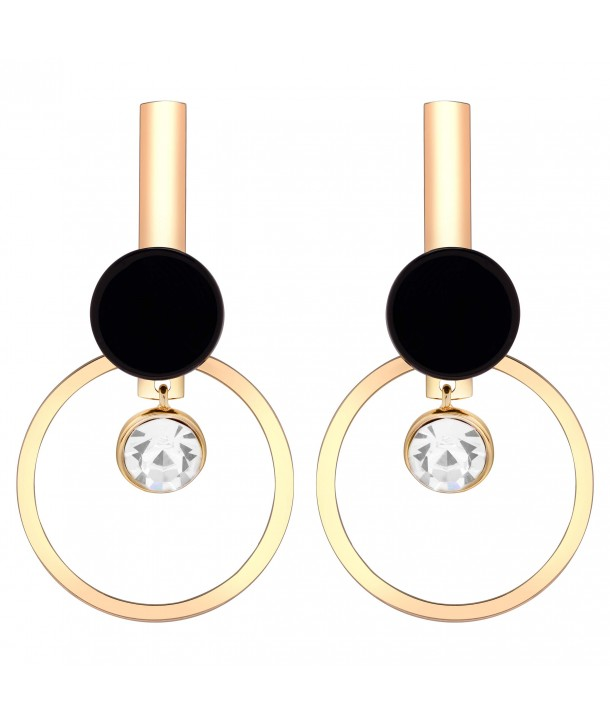 BOUCLES D'OREILLES - SATELLITE GOLD & BLACK