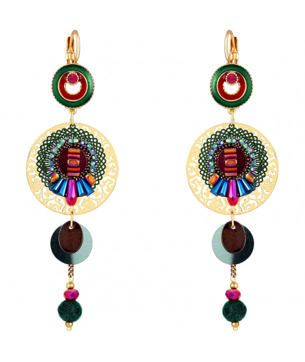 BOUCLES D'OREILLES - EGYPTA DORADA COLOR