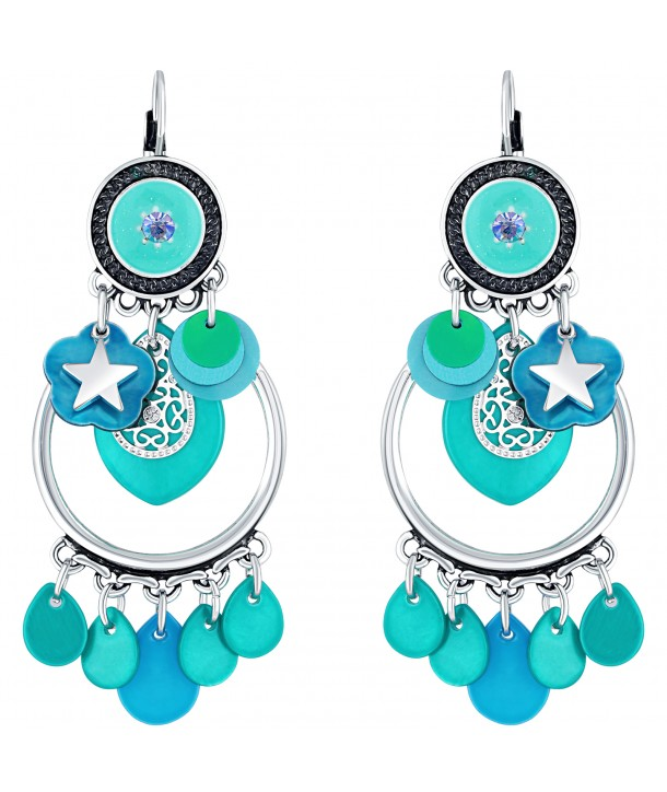 BOUCLES D'OREILLES - SEASHELL TURQUOISE