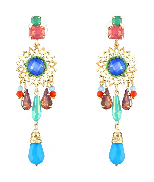 BOUCLES D'OREILLES - SOLAR COLOR GOLD